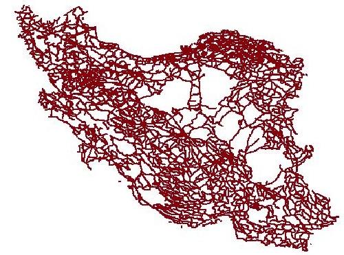 1763749 - لایه (شیپ فایل) راه های کشور ایران